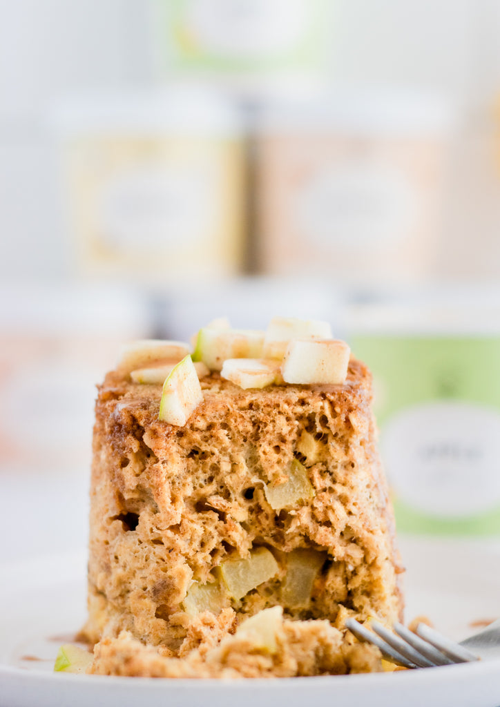 Microwave Oatmeal Apple Muffin by @wonderandcharm