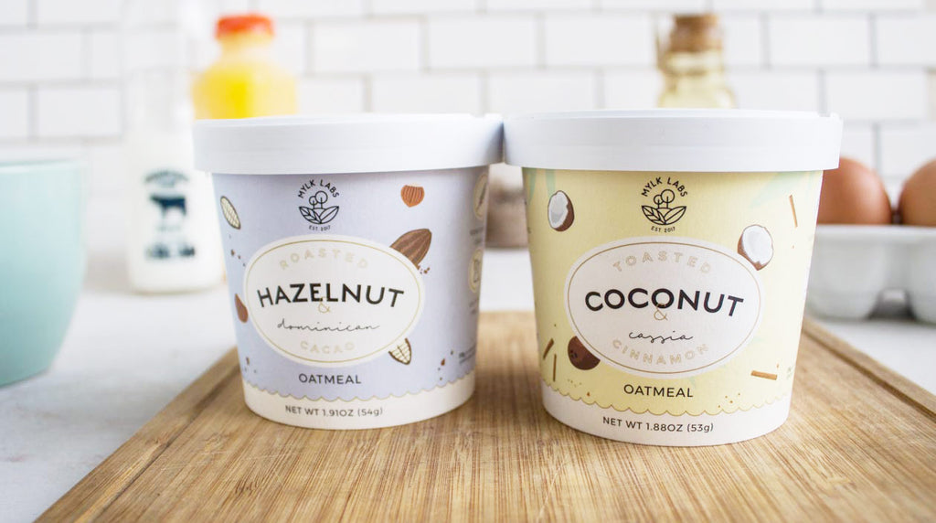 Hazelnut and Coconut Oatmeal Cup