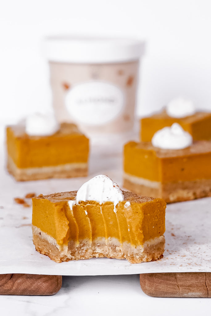 Vegan Pumpkin Pie Bars by @what.shes.cooking