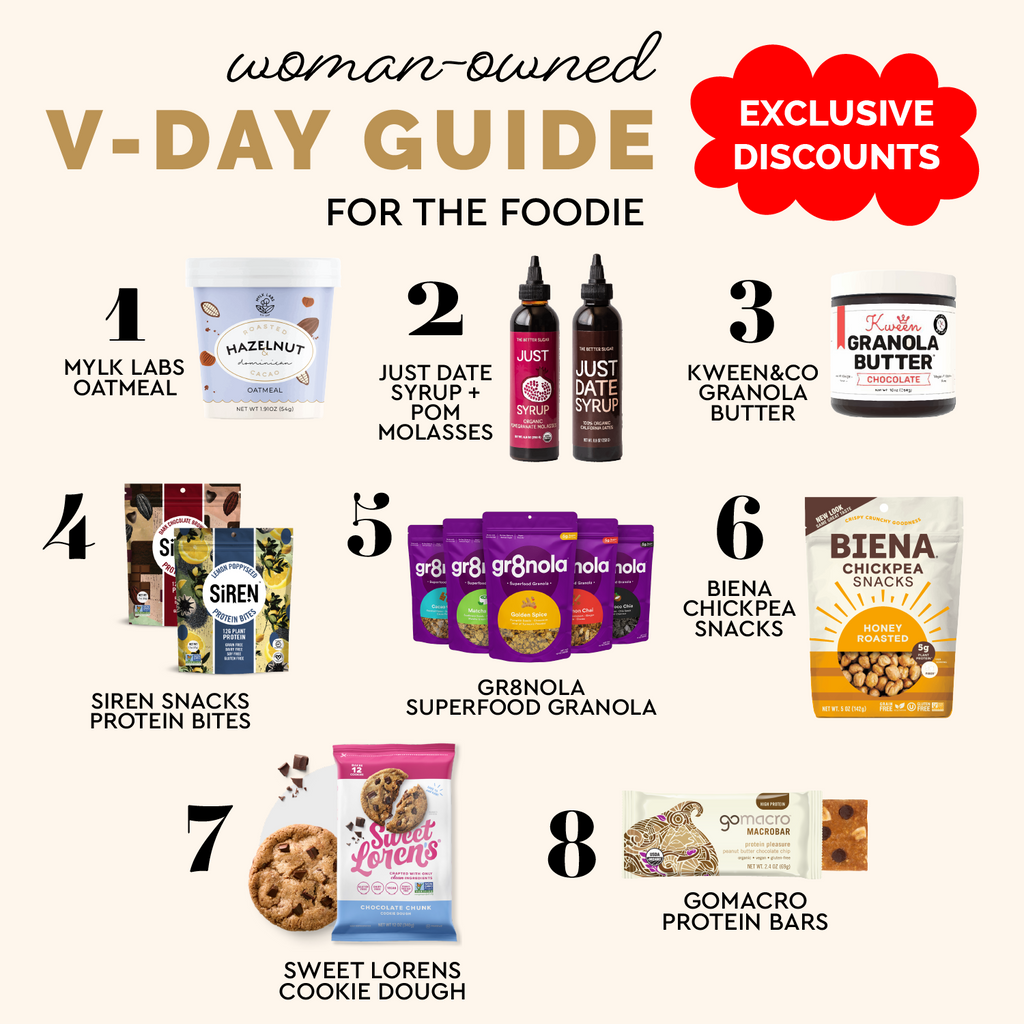 woman owned valentine's gift guide for the foodie