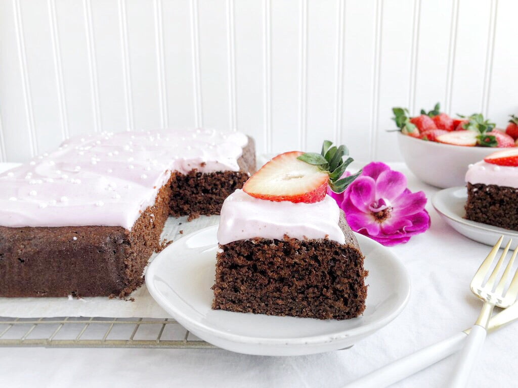 Healthy chocolate sheet cake recipe