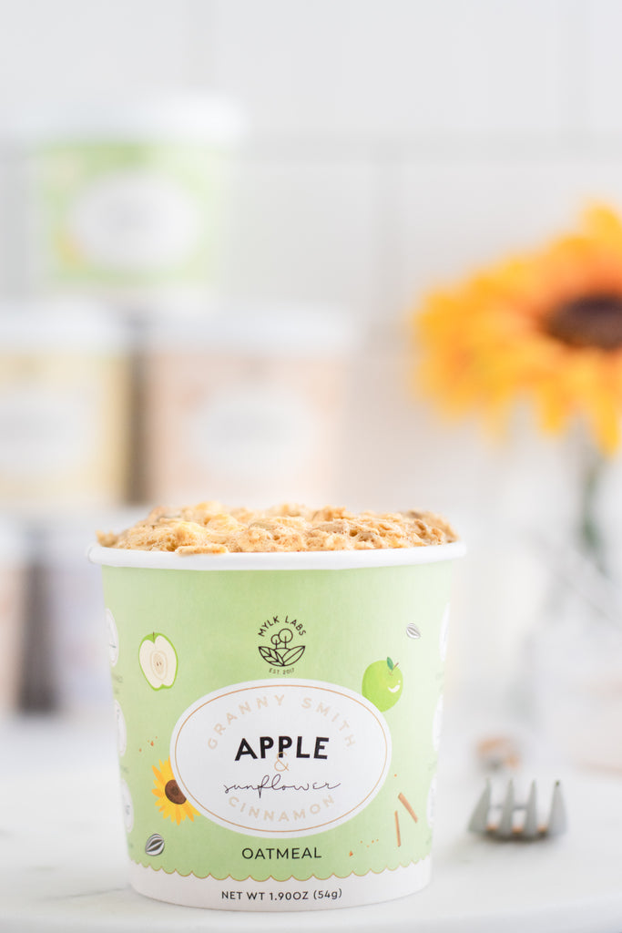 Microwave Oatmeal Apple Muffin