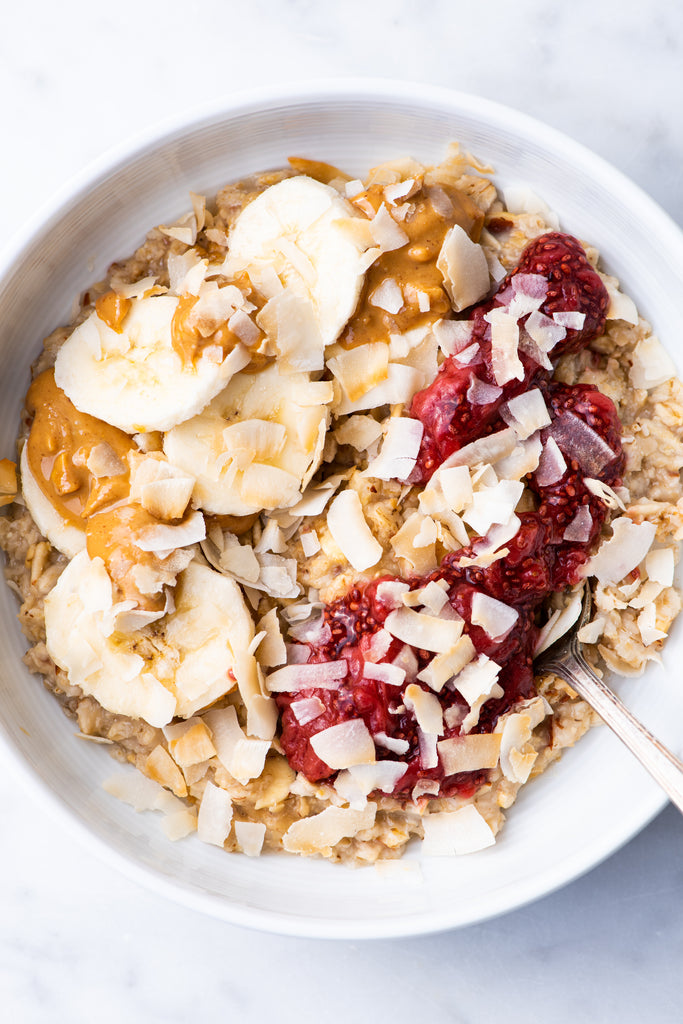 homemade healthy oatmeal bowl rolled oats quick oats