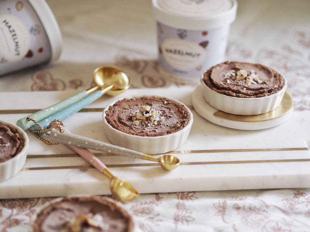 raw vegan hazelnut cacao tarts