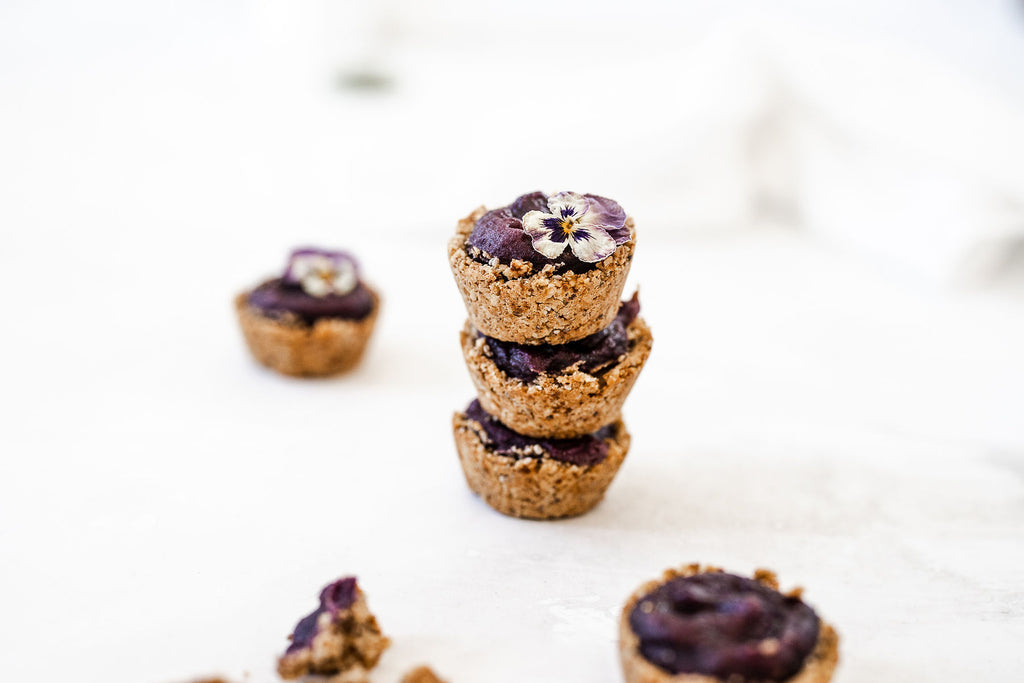 vegan ube cookie cups