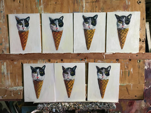 Ice Cream Cat Heads