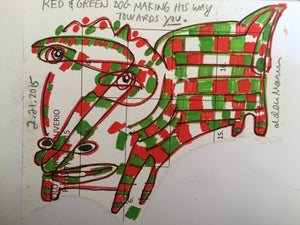 Red and Green Dog