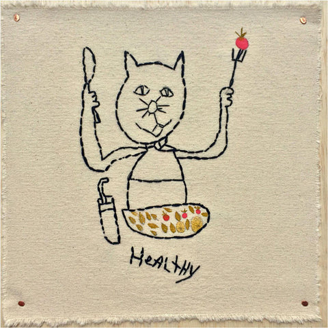 "Artists of L.A. Goal - ""Healthy Habit Kitty Kat"" by Elisa Jerugim"