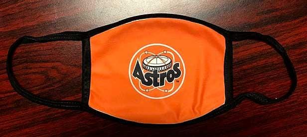 Houston Astros Astrodome Mask with black straps and outline