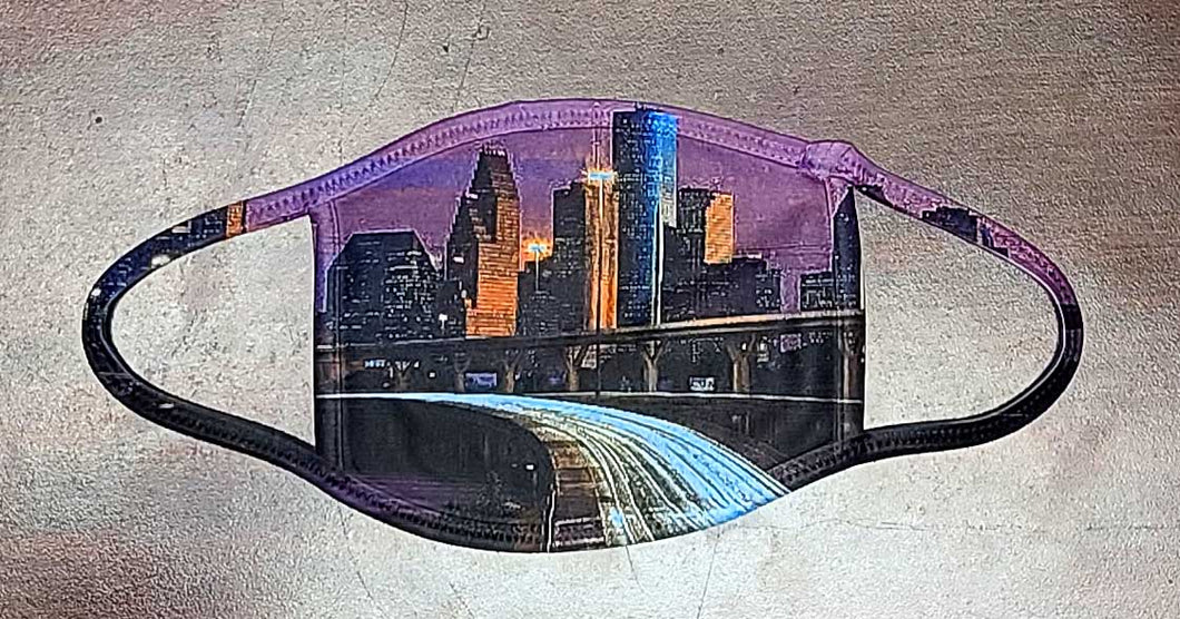 Houston Downtown Skyline Mask