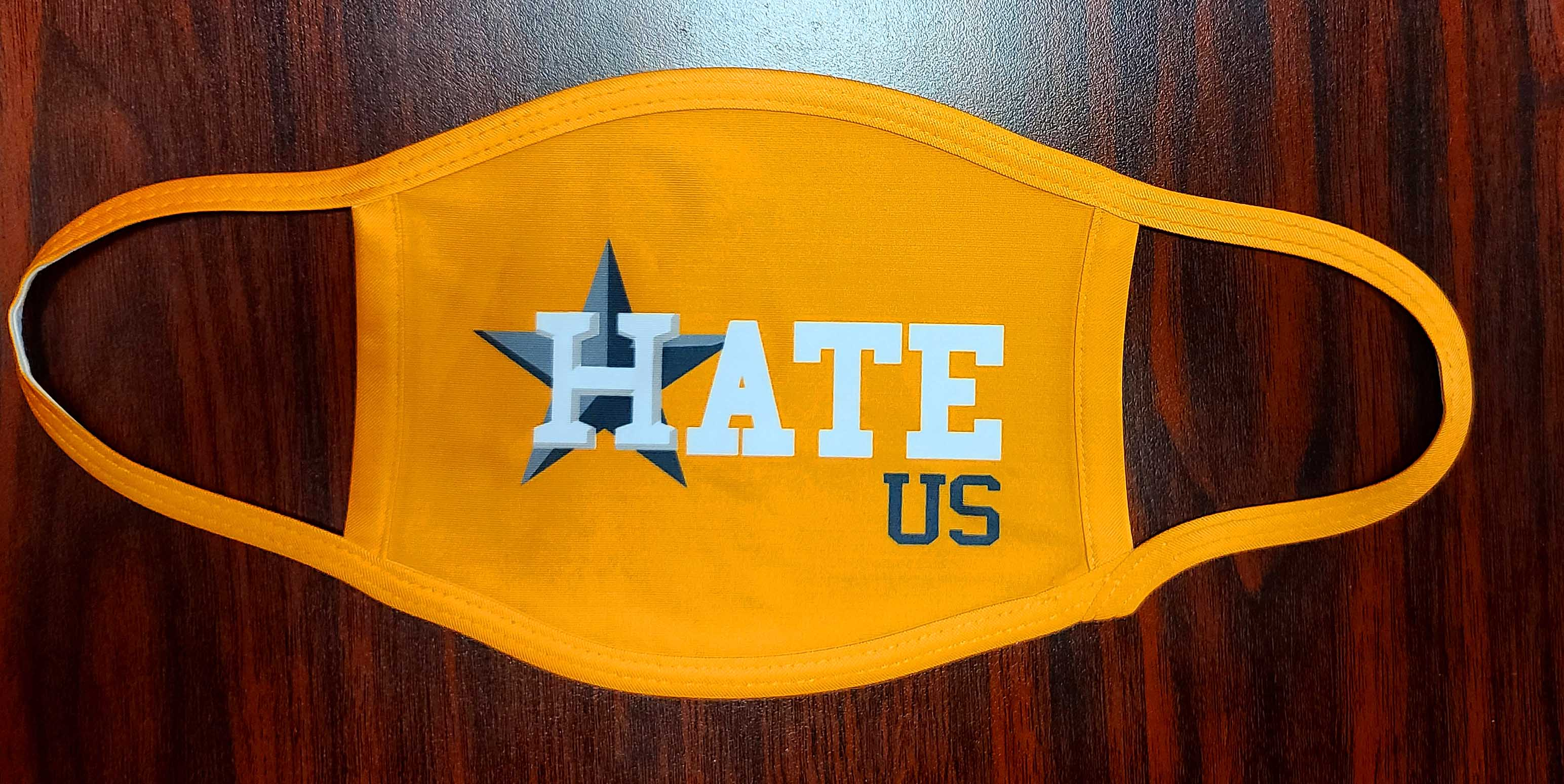Houston Astros Double Sided Hate Us Mask