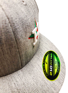 Houston Astros Mexico themed cap with Mexican Flag on a heather Grey Flexfit 6210 cap
