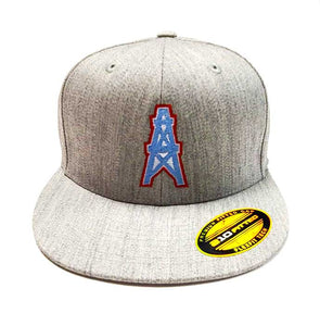 Houston Oilers Flexfit 6210 Heather Grey Cap