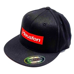 Houston Supreme logo on a Flexfit 6210 semi fitted cap