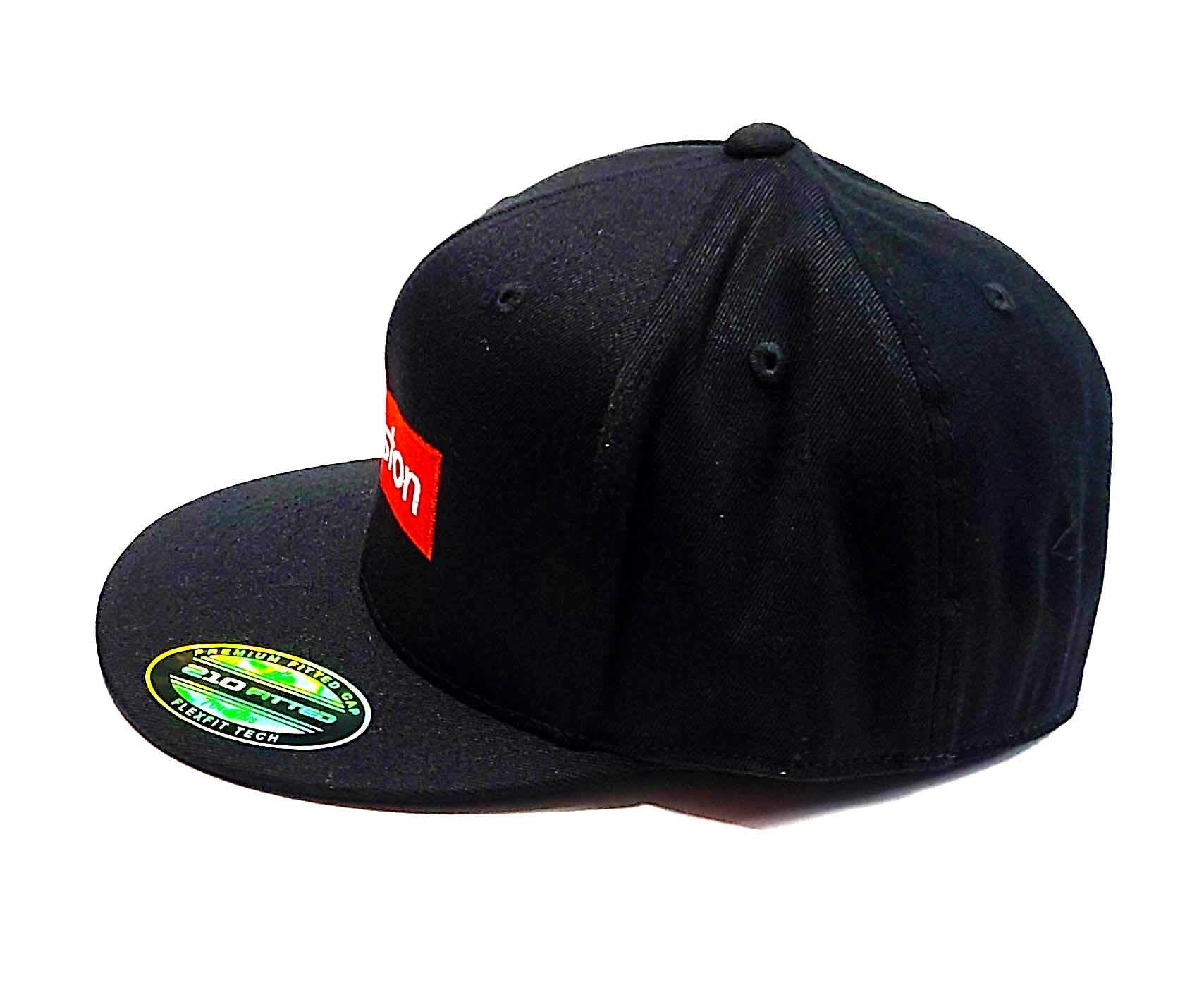 Houston Supreme logo on a Flexfit 6210 semi fitted cap side view
