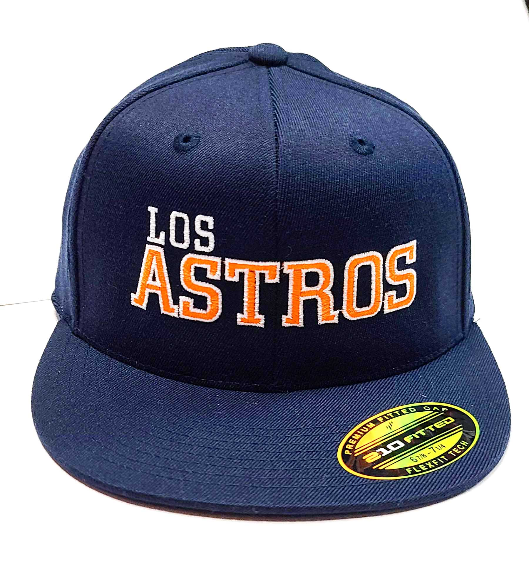 Los Astros navy Blue Flexfit 6210 cap front view