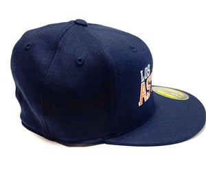 Los Astros navy Blue Flexfit 6210 cap side view