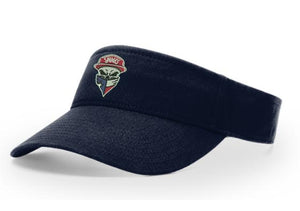 Richardson R45 Garment Washed navy Visor with original Savages Skull Logo embroidered
