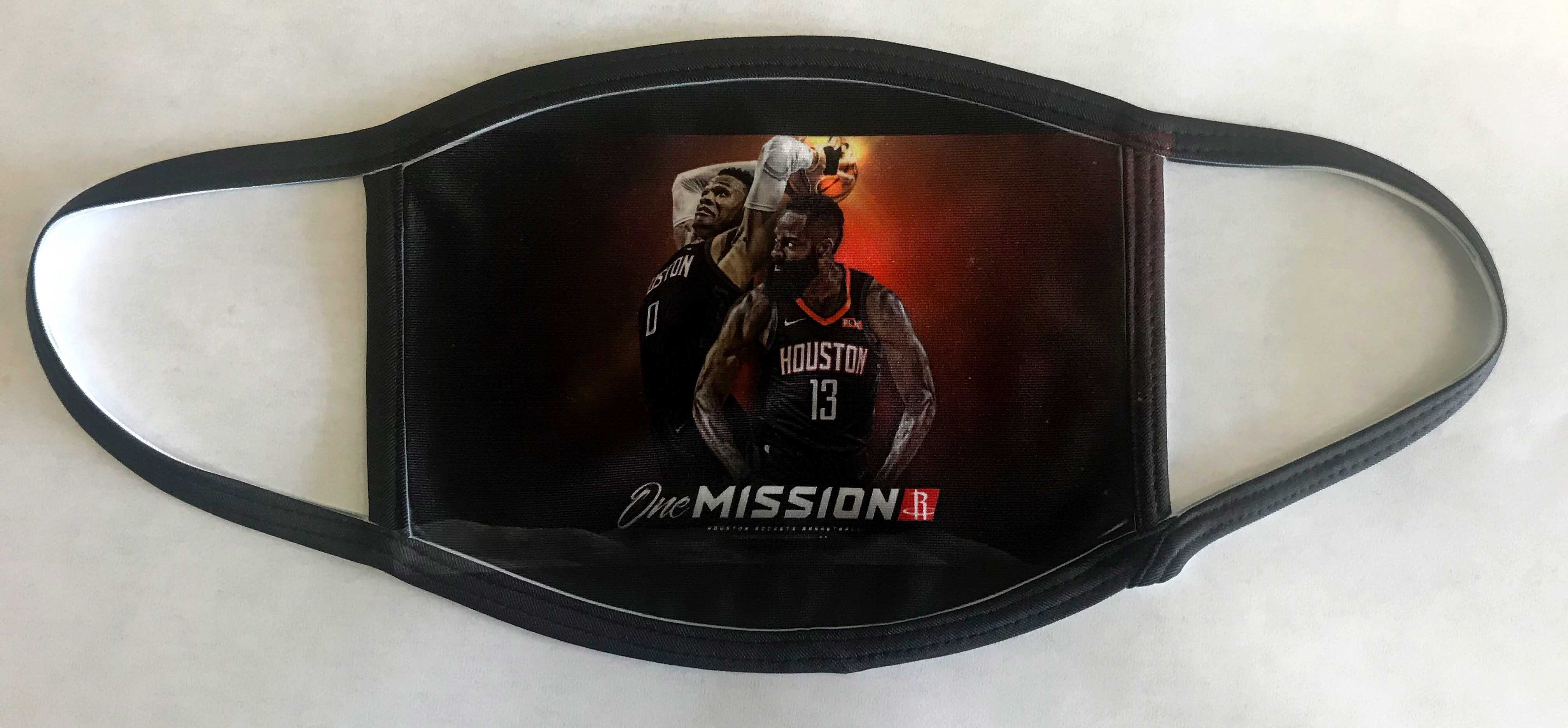 Houston Rockets One Mission black mask