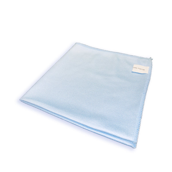 Premium Microfiber 16 X 16 BLUE Glass and Window Towel