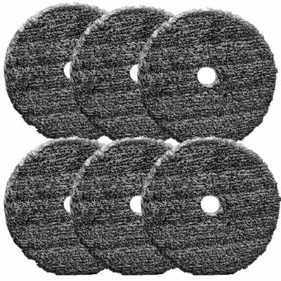 "6"" Round DA Scuff Pads - 35 Maroon, 15 Gray (50 Pieces Total)"