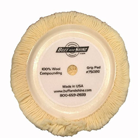 Buff and Shine 6.5-Inch Maroon Low-Pro Polishing Foam Pad