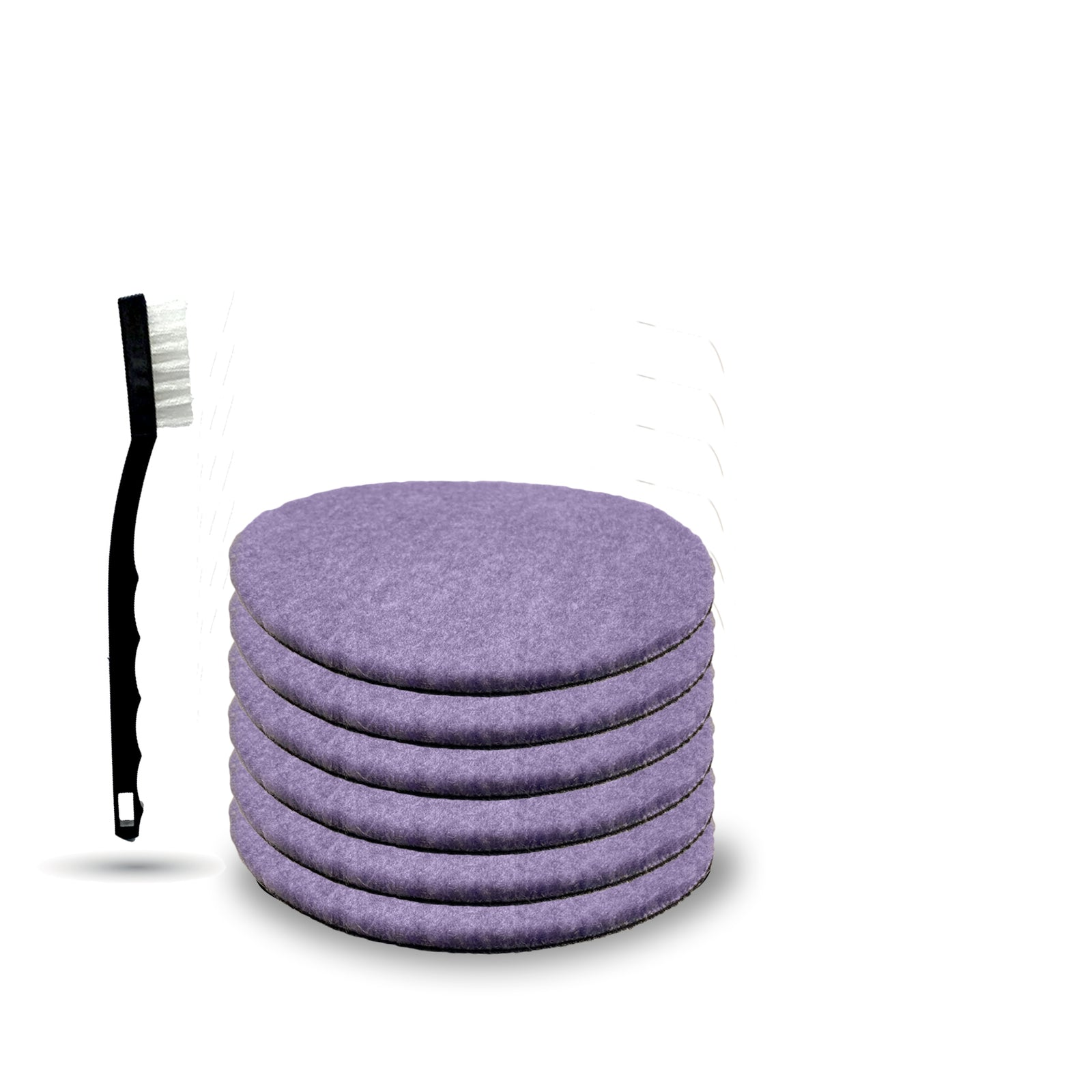 "5 1/4"" x 1/4"" Purple Thin Foamed Wool Pad"