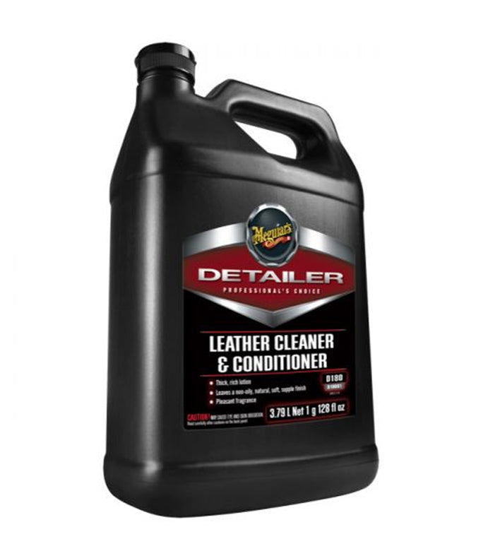Meguiar's D180 Detailer Leather Cleaner & Conditioner, 1 Gallon