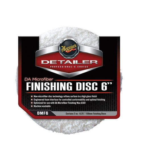 Meguiar's DMF6 DA Microfiber Finishing Disc - 6 inch (2 pack)