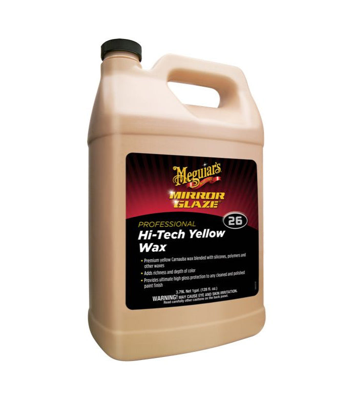 Meguiar's M26 Mirror Glaze Hi-Tech Yellow Wax, 1 Gallon