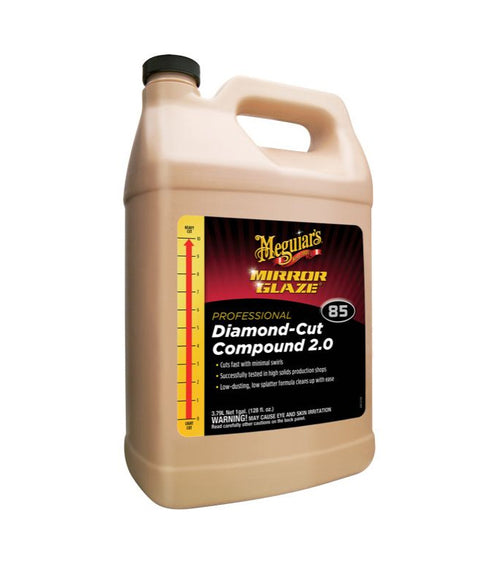 Meguiar's M85 Mirror Glaze Diamond Compound Cut 2.0, 1 Gallon