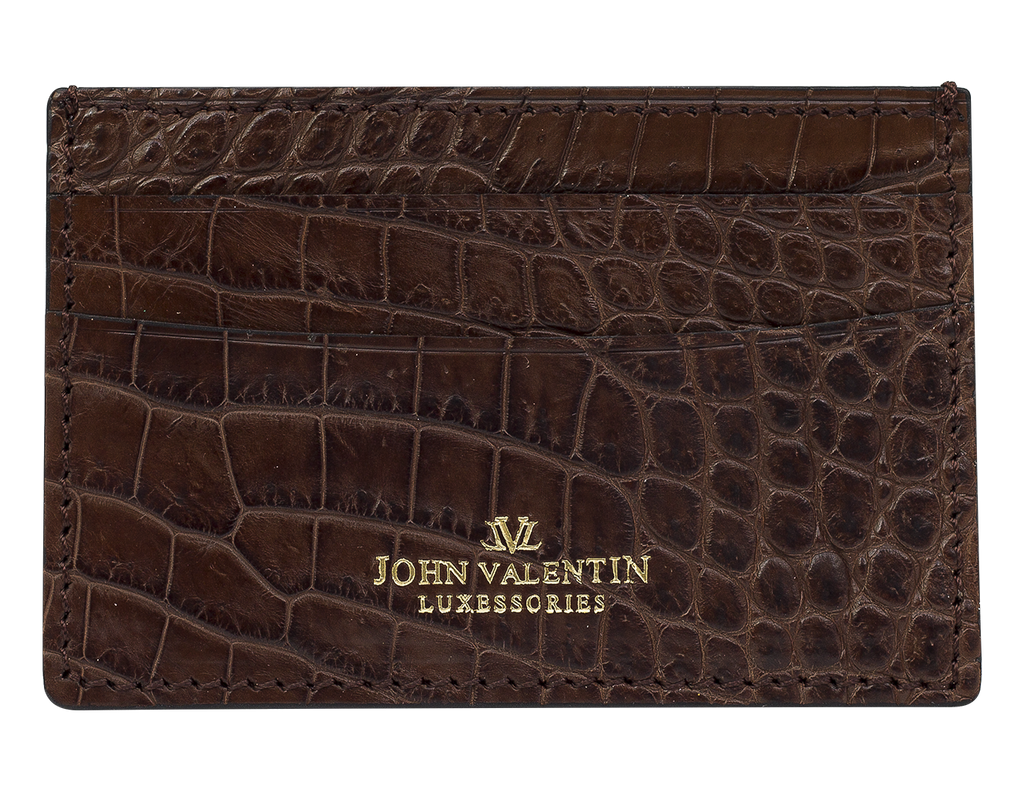 Card Holder Brown Alligator