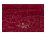 Card Holder Red Alligator