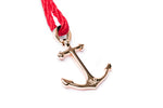 Loving Red Anchor Bracelet