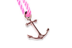 Happy Pink Anchor Bracelet