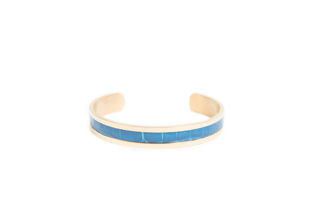 Bracelet 18K Blue Alligator