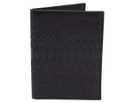 Passport Holder Black Python