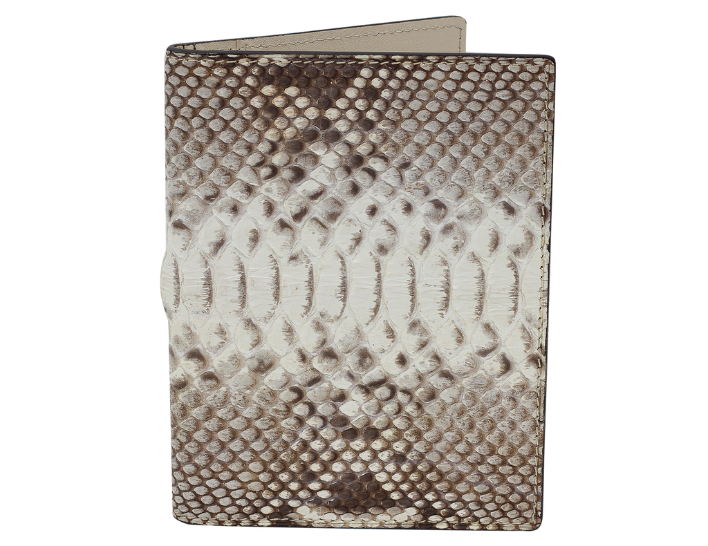 Passport Holder White Python