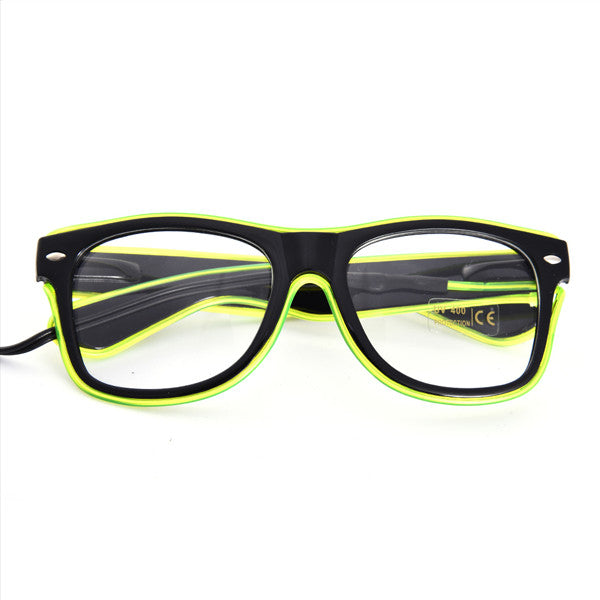 LED Glow Fluorescence Glasses