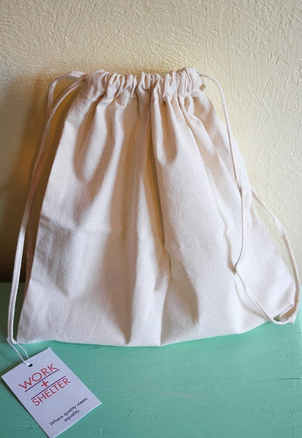 SQUARE DRAWSTRING BAG - LARGE