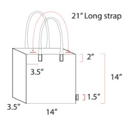 SQUARE TOTE - Large Sample