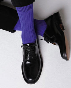Ribbed Cashmere Blend Mid-Calf Socks