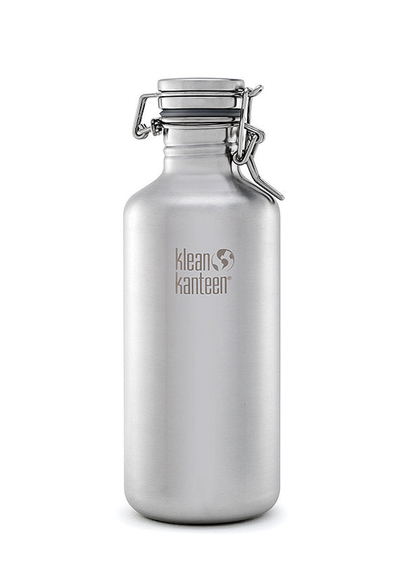 Brushed Steel Classic Growler 40oz
