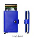 Secrid RFID Blocking Miniwallet with Snap Closure - Crisple Cobalt