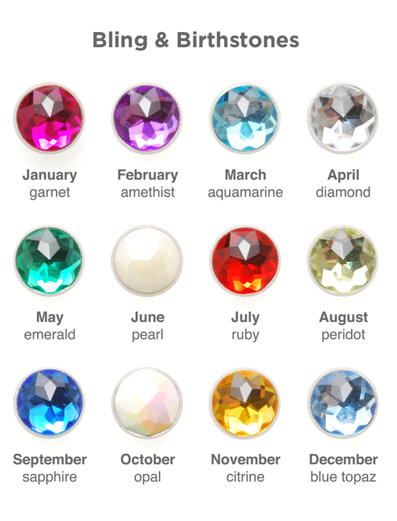 Mogo Bling/ Birthstone Charms