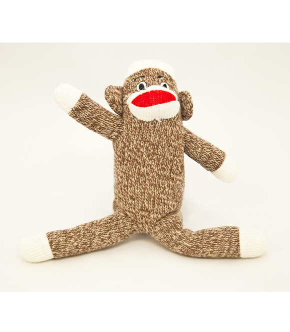 Sock Monkey Plush Dog Toy