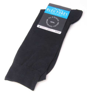 Mercerized Cotton Socks in Black/Large