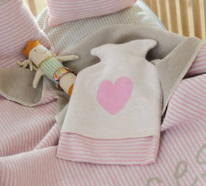 Warming Bottle in Pink Heart