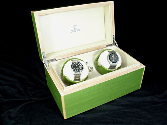Watch Winder in Peridot Green - 2 Watches