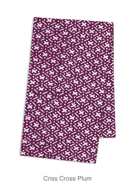Adelaide Tea Towel - Criss Cross (set of 3)
